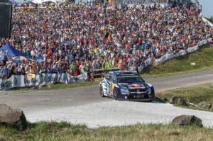 Rallye Deutschland 2015, Panzerplatte, Sébastien Ogier/Julien Ingrassia (F/F), Volkswagen Polo R WRC   Foto: Kräling