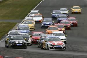 Start Rennen, Oschersleben, Volkswagen Scirocco R-Cup