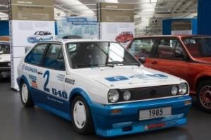 Polo G40 Weltrekordfahrzeug, das 1985 die Standfestigkeit des G-Laders bewies.